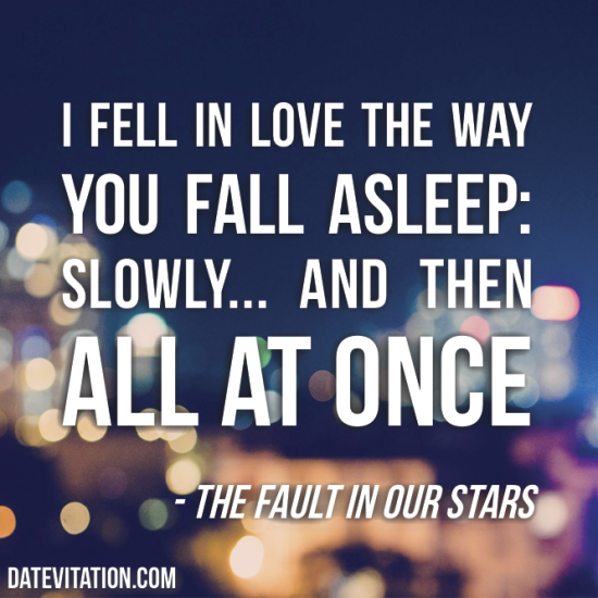 I Fell In Love The Way You Fall Asleep: Slowly.... And